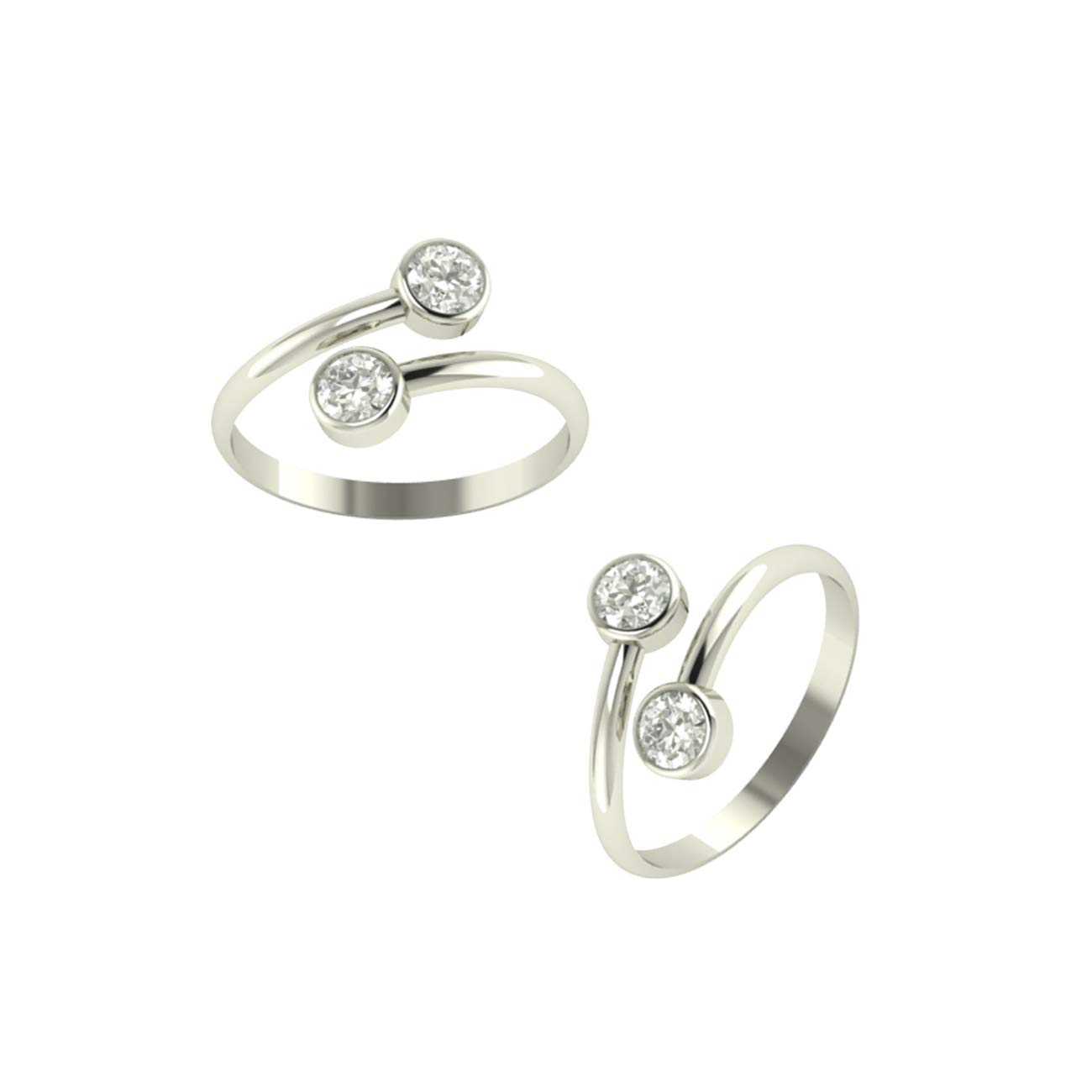 PEEN ZONE WE DELIVER THE ACTUAL JEWELRY Sterling Silver Cubic Zirconia Toe Ring