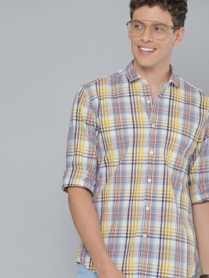 MAST & HARBOUR Men Checkered Casual Red Shirt