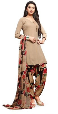 EthnicJUnction Crepe Checkered Salwar Suit Material(Unstitched)