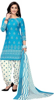 Oomph! Georgette Printed, Solid Salwar Suit Material(Unstitched)